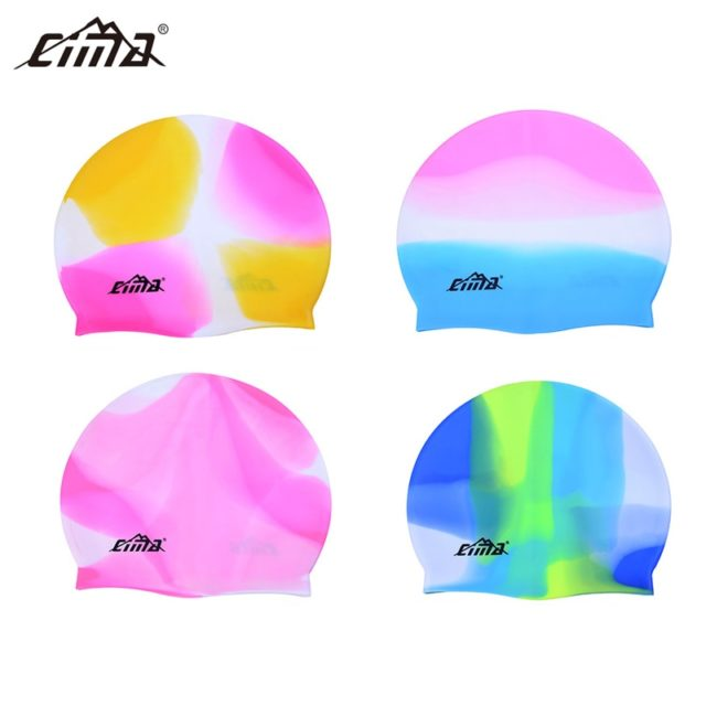 Swimming Swim CAP Unisex Durable Adult Sport Silicone Hat Water Protect Seamless